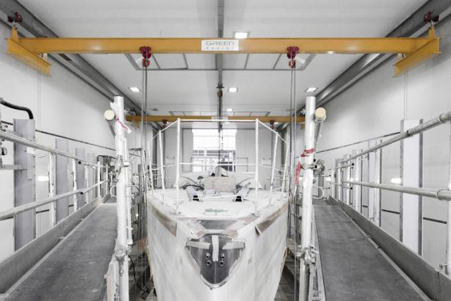 VOR 65 en finition au chantier Green Marine