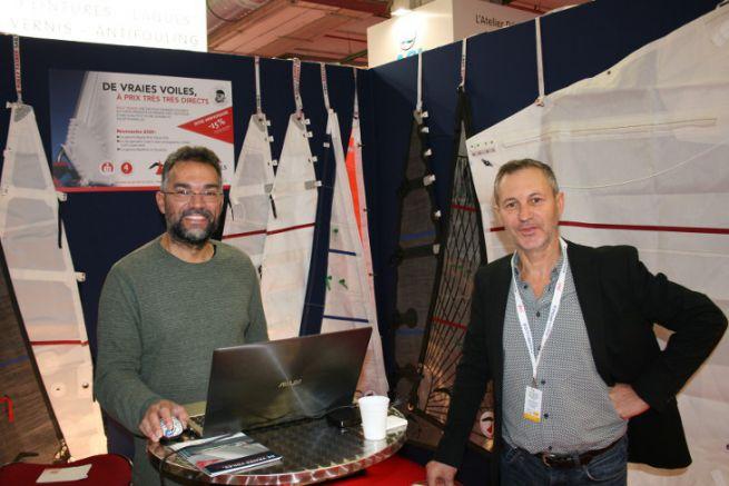 Franck Perrier (à droite) a relancé la voilerie Rolly Tasker en France